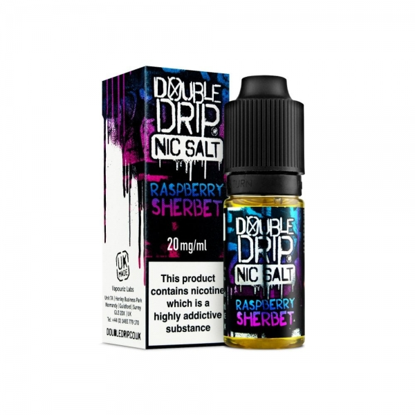 Raspberry Sherbet Nic Salt - Double Drip
